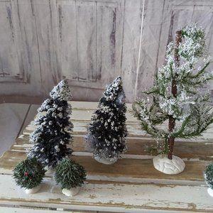 Lemax tree forest decor accessory set 6 bushes